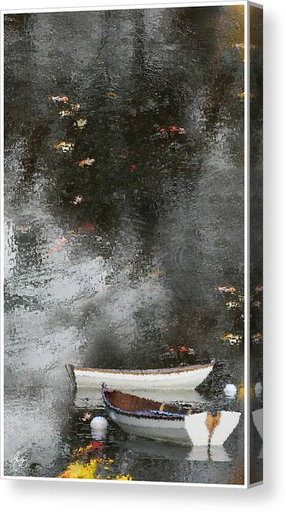 Dingies Canvas Print featuring the photograph Dingies In The Rain by Wayne King