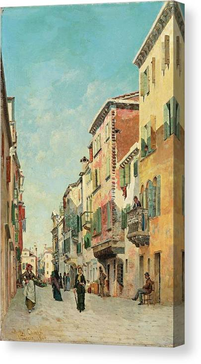 Federico Del Campo Canvas Print featuring the painting Via San Giorgio by MotionAge Designs