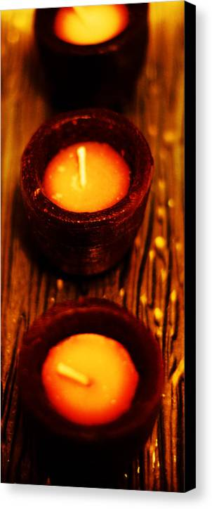 Candles Canvas Print featuring the photograph 3 Of A Kind by Lounge Mode Production Art