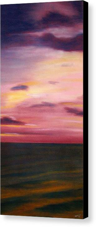 Sunrise Canvas Print featuring the painting Chesapeake Skyscape by Gary Jameson