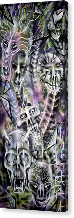 Modern Canvas Print featuring the painting Wake Up by Leigh Odom