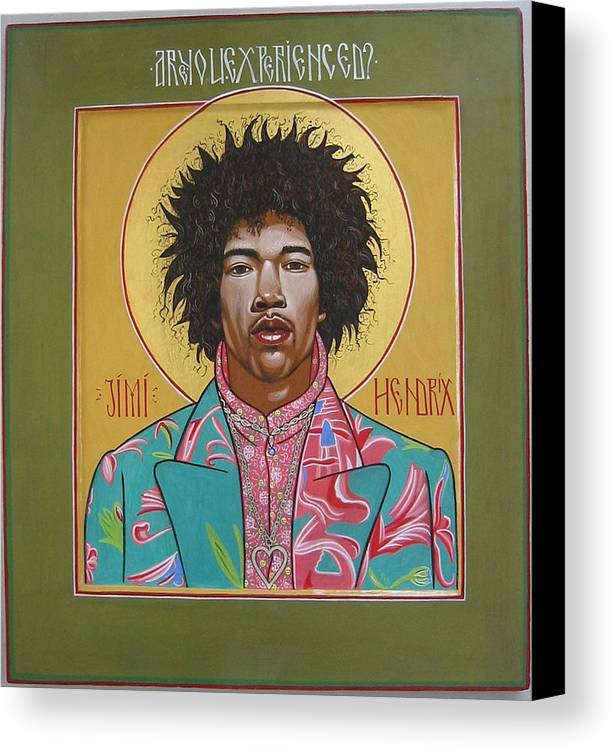 Iconic Portrait Canvas Print featuring the painting Are You Experienced by Rocco Pazzo