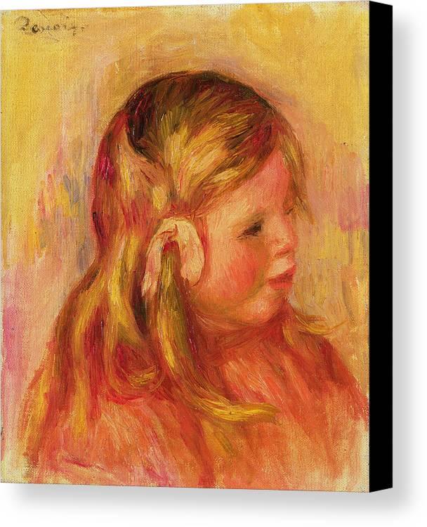 Portrait Canvas Print featuring the painting Claude Renoir by Pierre Auguste Renoir