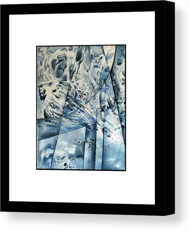An Abstract Painting. Canvas Print featuring the painting Ripples. by Priya Bendrey