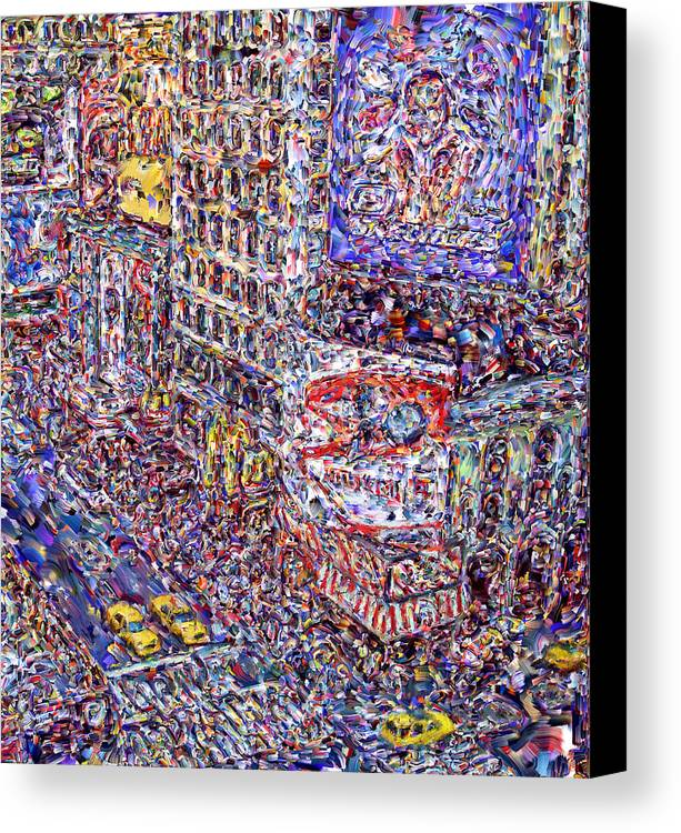 Nyc Canvas Print featuring the digital art Times Square by Marilyn Sholin