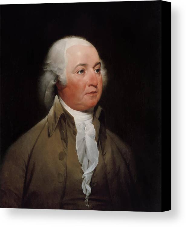 John Adams Canvas Print featuring the painting President John Adams by War Is Hell Store