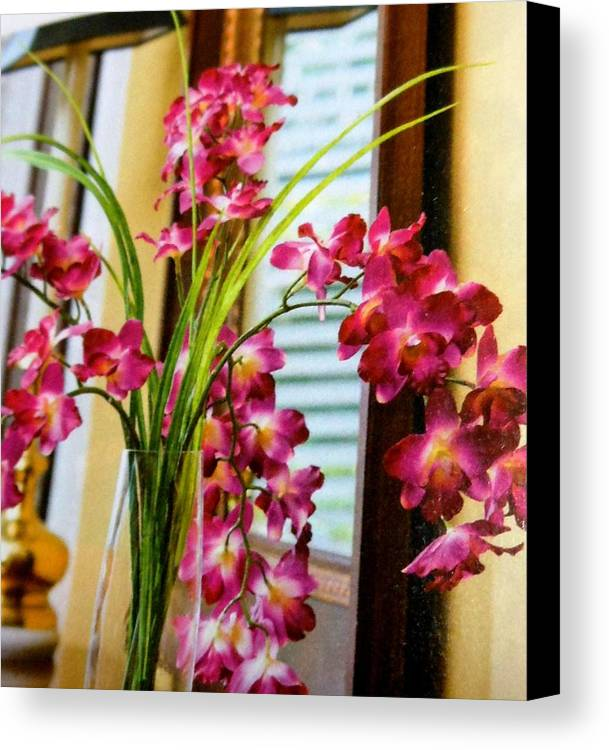 Flowers Canvas Print featuring the photograph Chester House Flowers by Lord Frederick Lyle Morris
