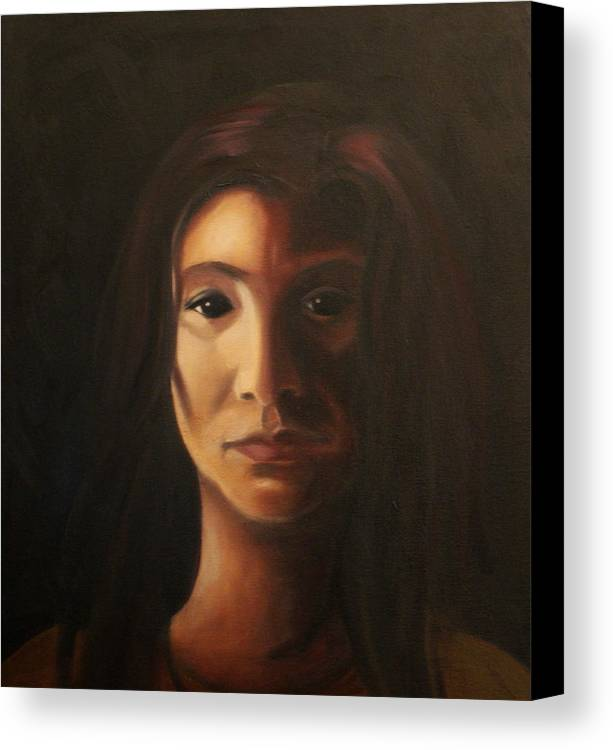 Woman In The Dark Canvas Print featuring the painting Endure by Toni Berry