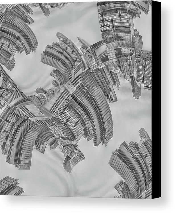 New York City Canvas Print featuring the photograph Escheresque Nyc by Elvira Pinkhas