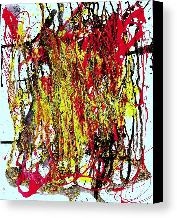 Mixed Media Prints Canvas Print featuring the painting Freedom Marchers by Teo Santa