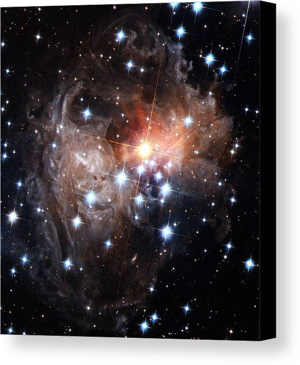 Galaxy Canvas Print featuring the photograph Intricate Structures In Interstellar by ESA and nASA