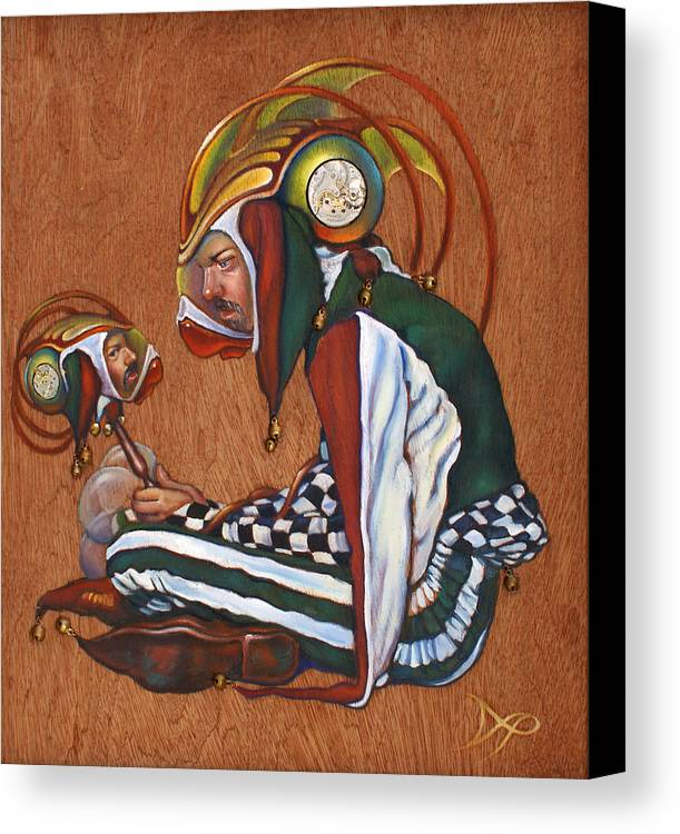Jester Canvas Print featuring the painting Jinglebats by Patrick Anthony Pierson