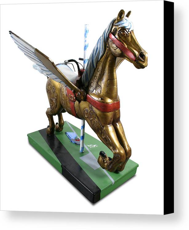 Horse Canvas Print featuring the sculpture Muse Of Flight by Paul Illian