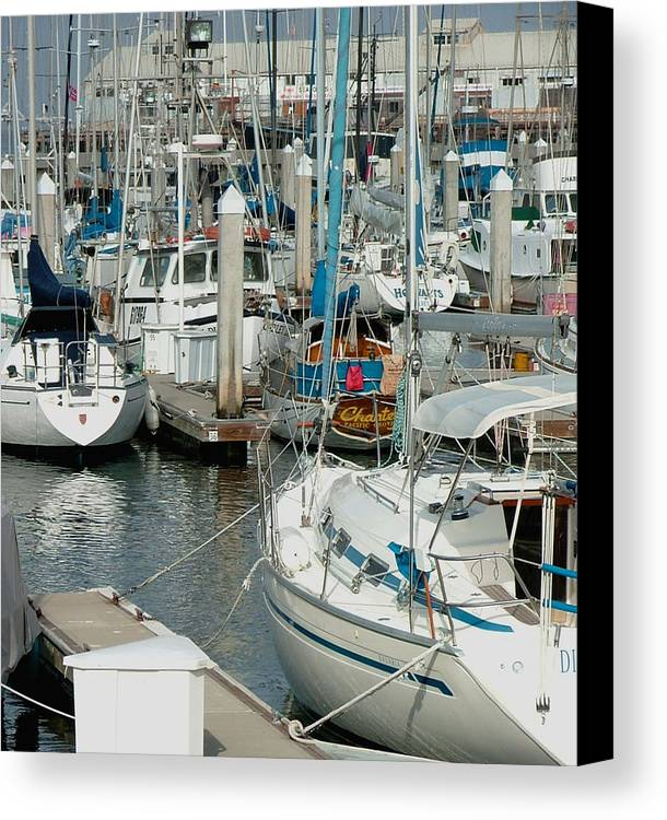 Boats Canvas Print featuring the photograph Tied Up by Donna Thomas