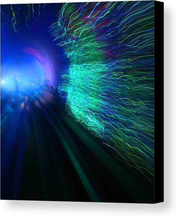 Abstract Canvas Print featuring the photograph Tunnel Vision IIi by Erika Lesnjak-Wenzel
