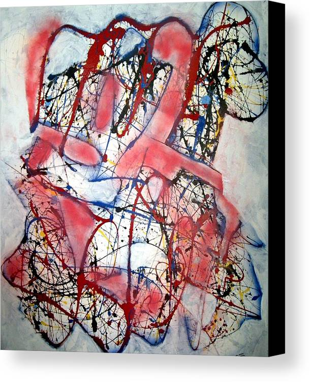 Abstract Canvas Print featuring the painting Urban Legend by Paul Freidin