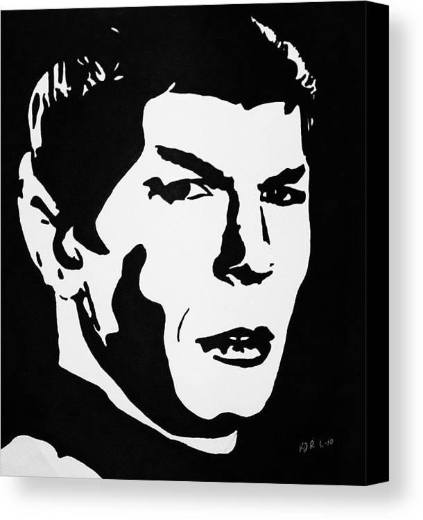 Star Trek Canvas Print featuring the drawing Vulcan Spock by Kenneth Regan