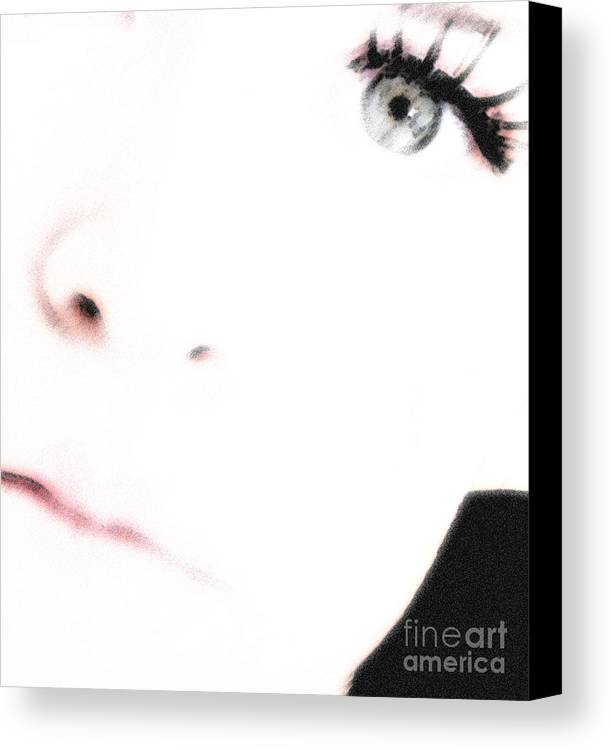 Face Canvas Print featuring the photograph Where Is The Soul by Amanda Barcon