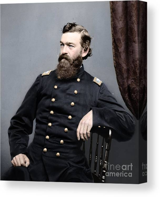 American Civil War Canvas Print featuring the photograph General James S Robinson by Celestial Images