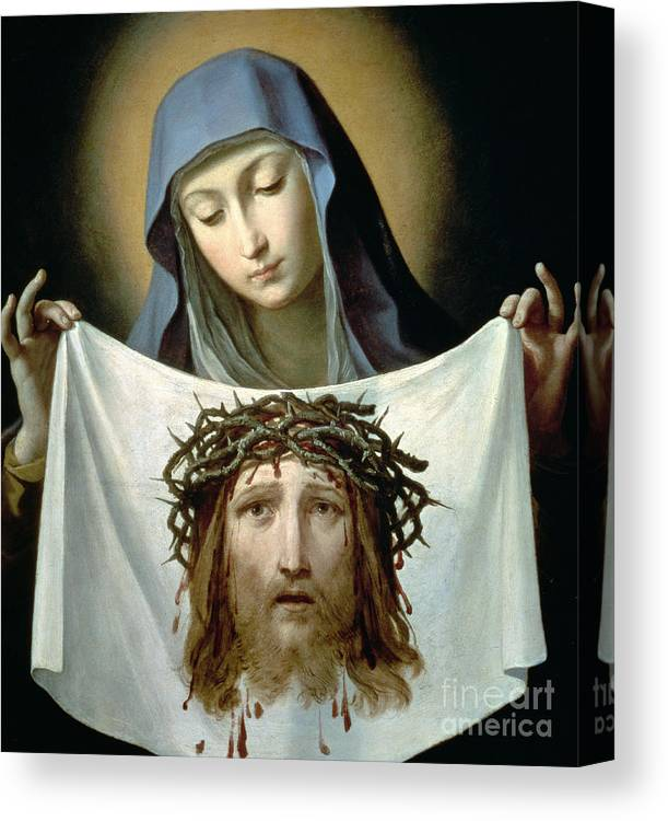 Son Of God Canvas Print featuring the painting Saint Veronica by Guido Reni