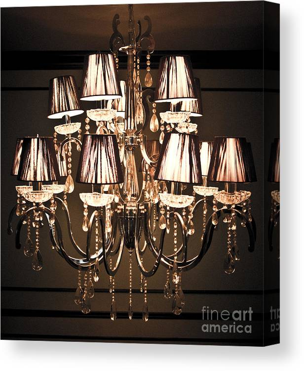 Art Canvas Print featuring the photograph Vintage Chandelier by Chavalit Kamolthamanon
