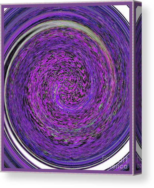 Abstract Canvas Print featuring the digital art Blackhole Five by Leslie Revels