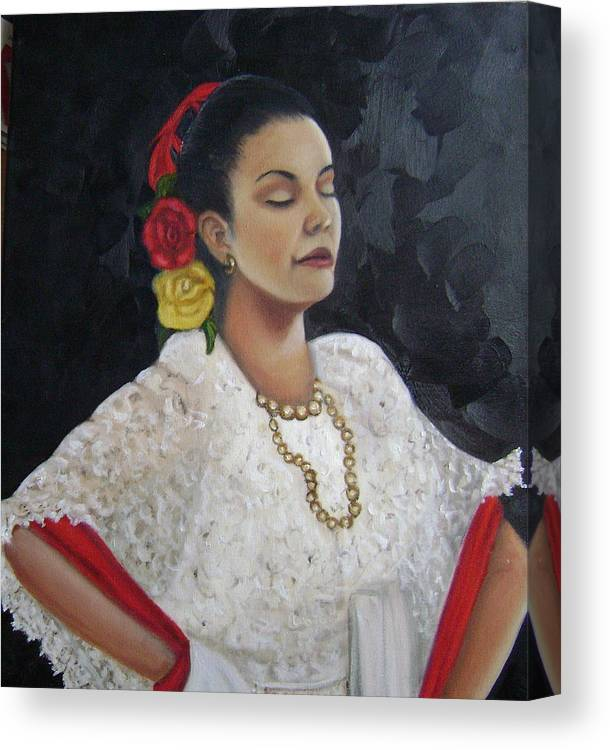 Canvas Print featuring the painting Lucinda by Toni Berry