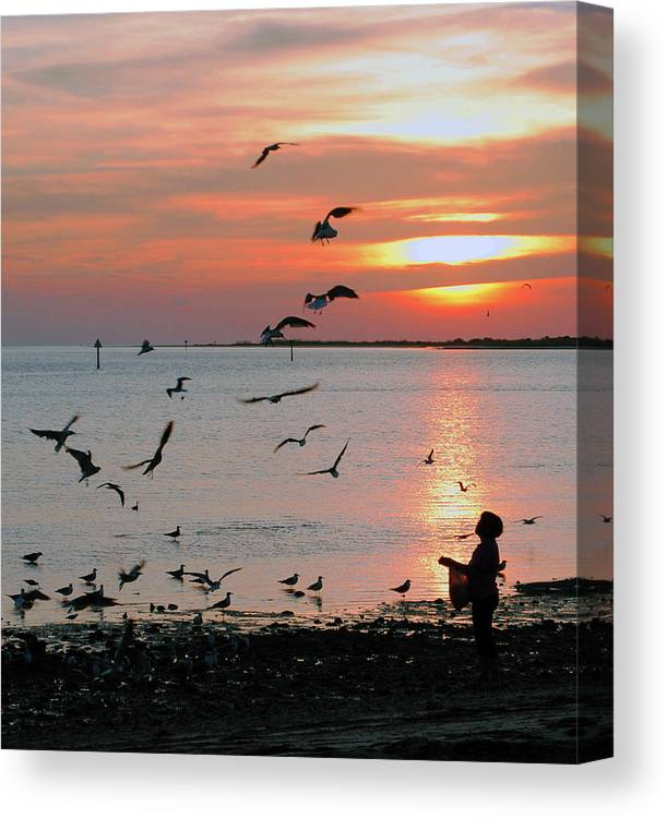 Sunset Canvas Print featuring the photograph Na-82 by Michael Fencik