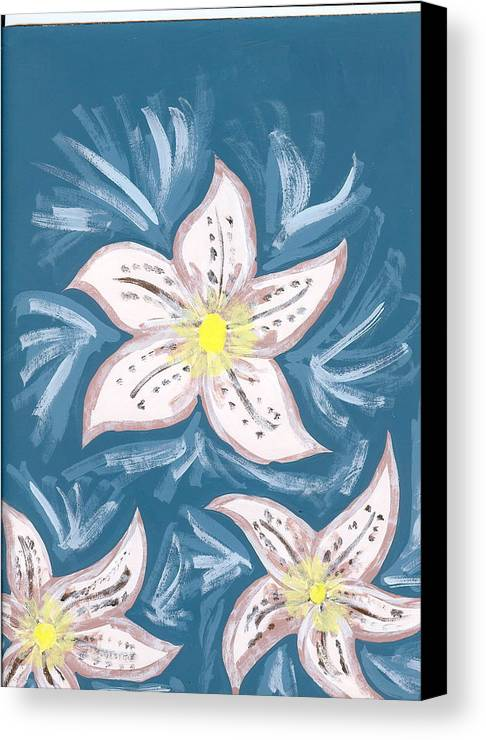 Flower Canvas Print featuring the painting Becky by Laura Lillo