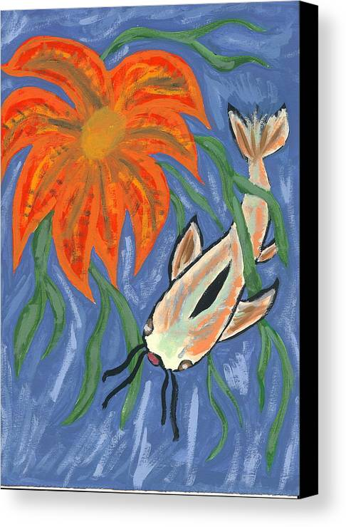 Flower Canvas Print featuring the painting Belize by Laura Lillo