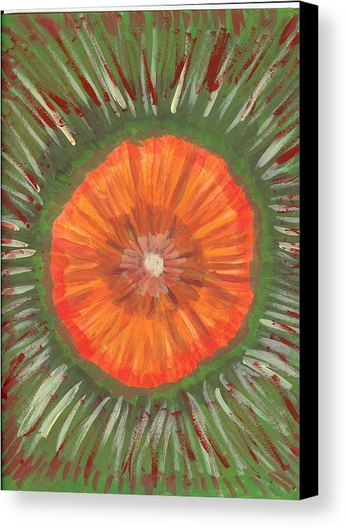 Flower Canvas Print featuring the painting In The Middle Of It All by Laura Lillo
