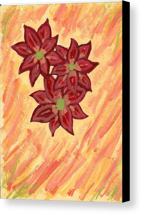 Flower Canvas Print featuring the painting Kelli by Laura Lillo