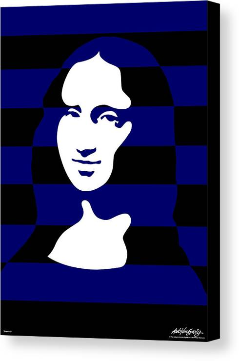 Mona Lisa Canvas Print featuring the digital art Mona Lisa by Asbjorn Lonvig