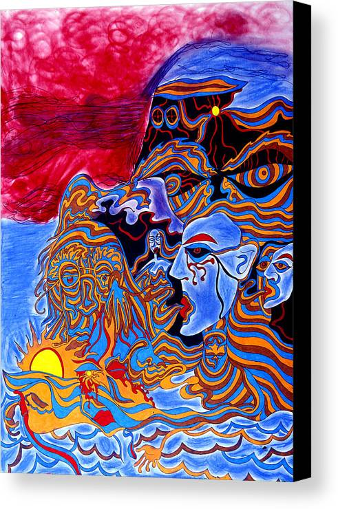 Abstract Canvas Print featuring the print Shaman Of The Red Sky by William Watson