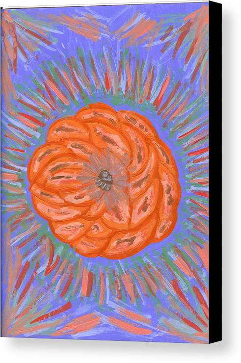Flower Canvas Print featuring the painting Starburst by Laura Lillo
