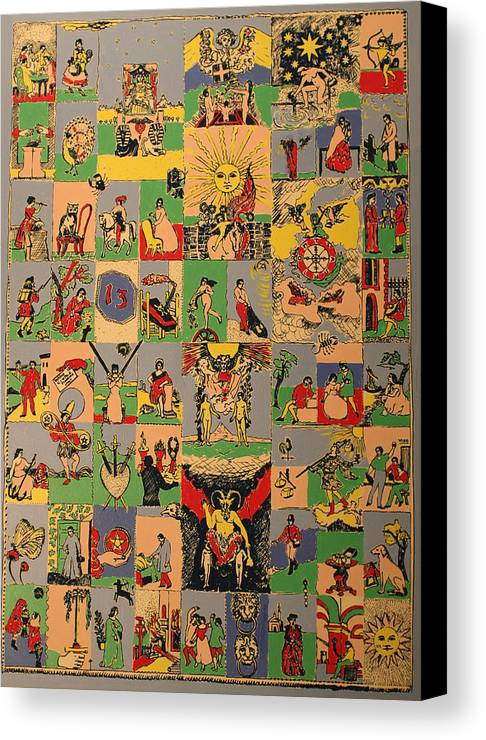 Canvas Print featuring the painting Tarots by Biagio Civale