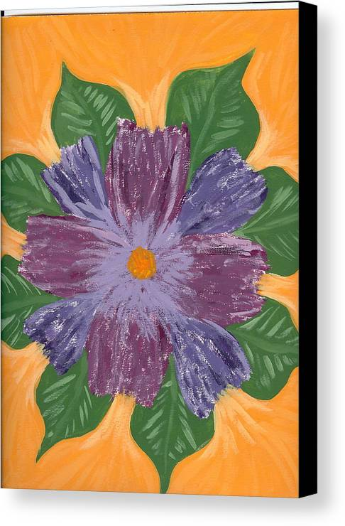Flower Canvas Print featuring the painting Viola by Laura Lillo
