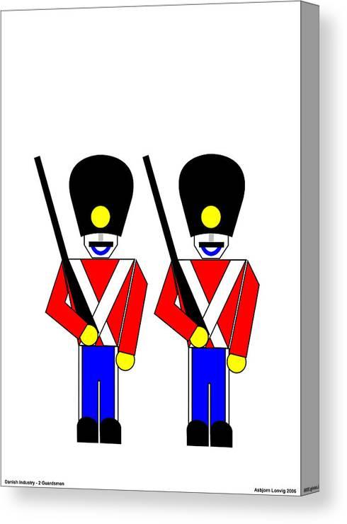 Canvas Print featuring the digital art 2 Guardsmen by Asbjorn Lonvig