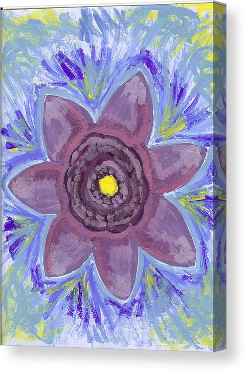 Flower Canvas Print featuring the painting Cashmere by Laura Lillo