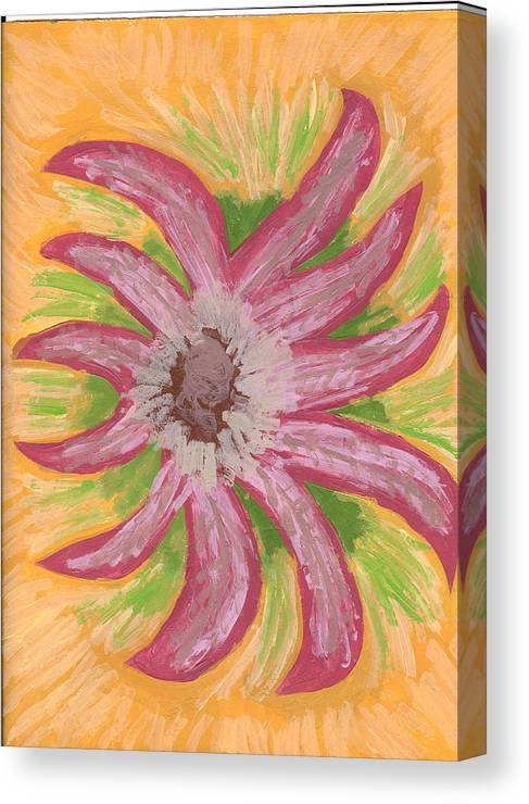 Flower Canvas Print featuring the painting Spider by Laura Lillo
