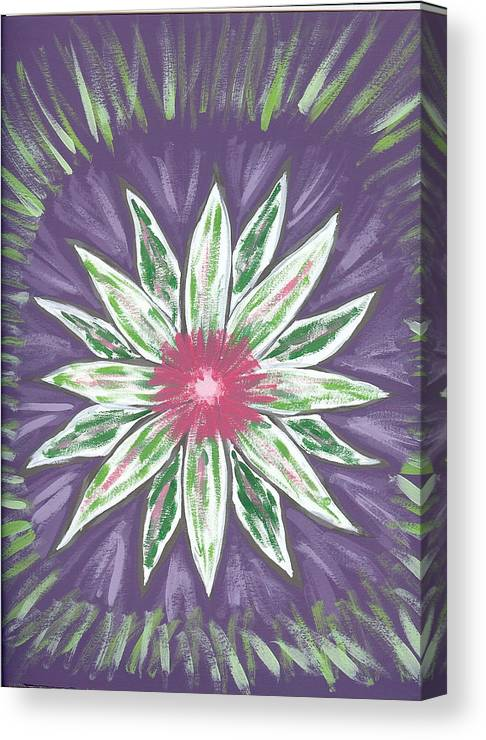 Flower Canvas Print featuring the painting Through The Twilight by Laura Lillo