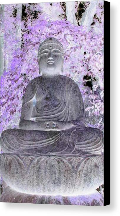 Surreal Canvas Print featuring the photograph Surreal Buddha by Curtis Schauer