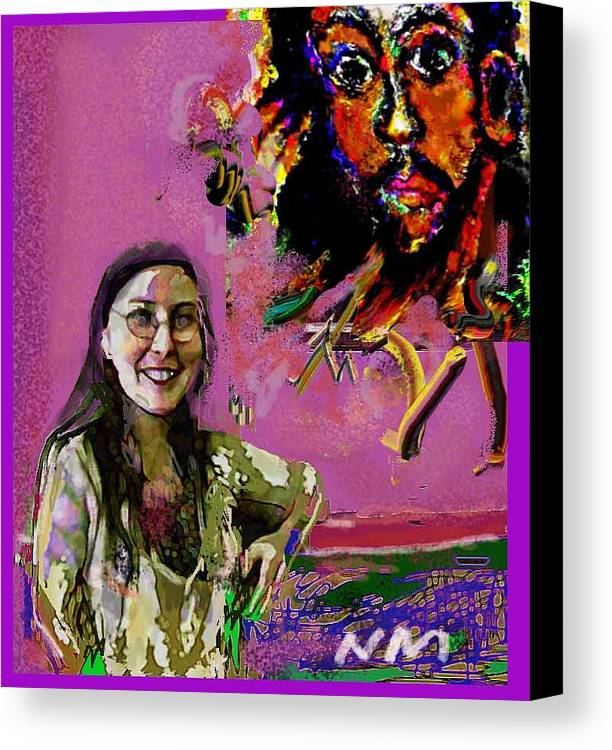 Human Composition Canvas Print featuring the print Believe by Noredin Morgan