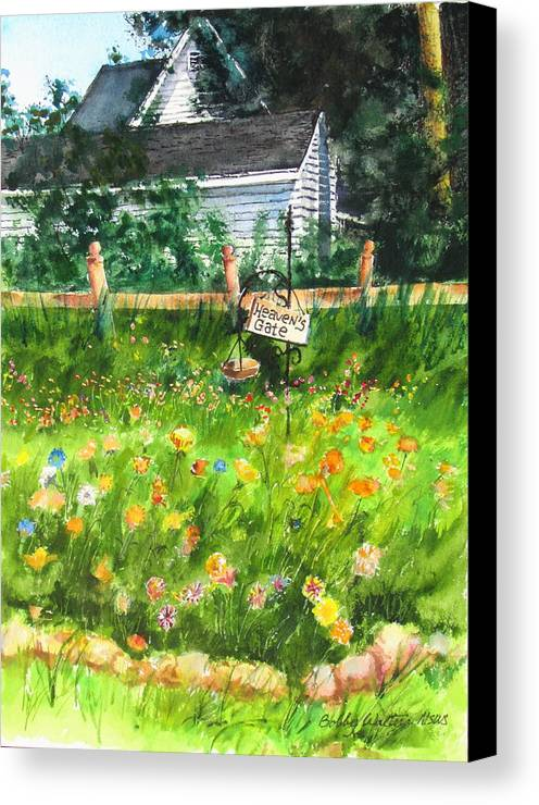 Landscape Canvas Print featuring the painting Heaven's Gate by Bobby Walters