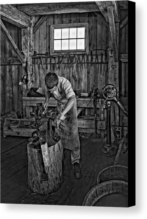 Pioneer Museum Canvas Print featuring the photograph The Apprentice Monochrome by Steve Harrington