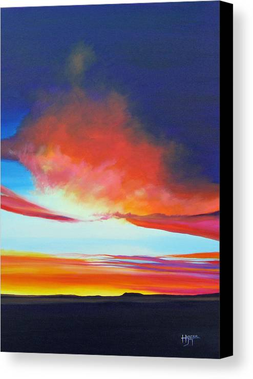 Landscape Canvas Print featuring the painting The Long Way Home by Hunter Jay