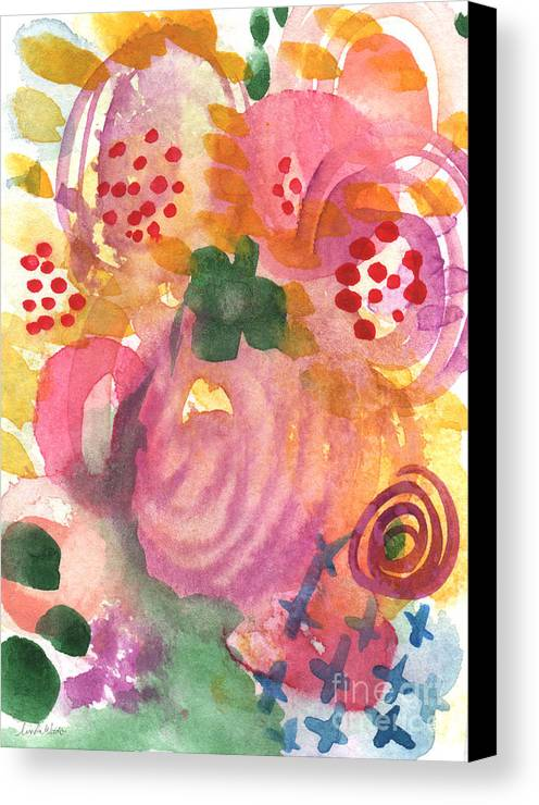 Garden Canvas Print featuring the painting Abstract Garden #44 by Linda Woods