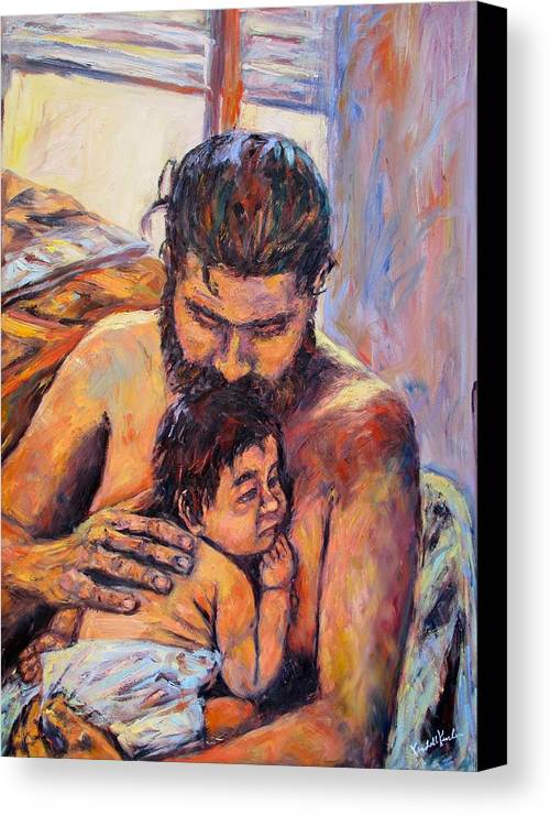 Kendall Kessler Canvas Print featuring the painting Alan And Clyde by Kendall Kessler