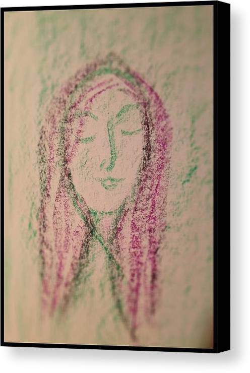 Woman Canvas Print featuring the photograph Art Therapy 137 by Michele Monk