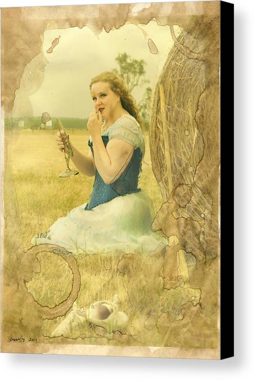 Strawberries Canvas Print featuring the photograph Cinderella Fairy Godmothers Don't Exsist by Eating Strawberries